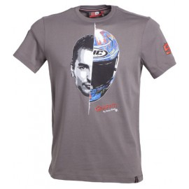 Tee shirt lorenzo casque graffiti gris