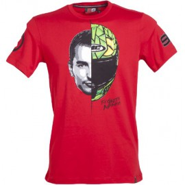 Tee shirt lorenzo casque graffiti rouge