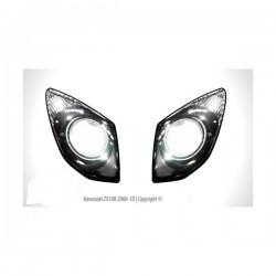 Stickers de phares Kawasaki ZX10R 08 / 10