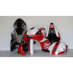 Poly peint Yamaha R1 2015 Milwaukee Rouge