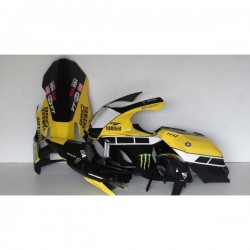 Poly peint Yamaha R1 2015 Jaune 60TH